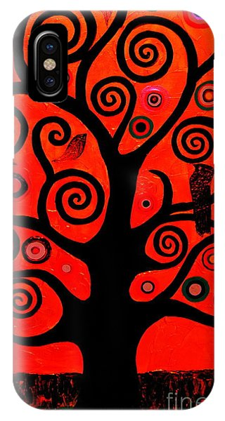 Samantha iPhone Case - The Tree Of Life Red by Samantha Black