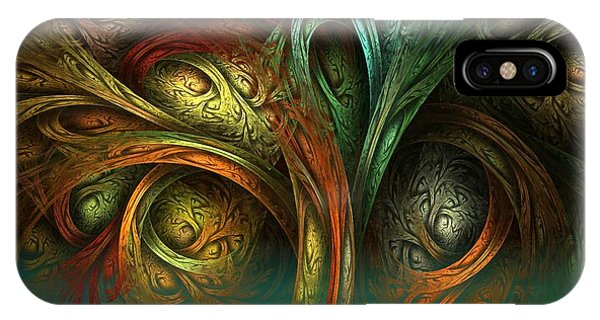 IPhone Case featuring the digital art The Tree Of Life by Sandra Bauser Digital Art