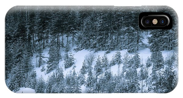 The Trees Of The Snowy Hill IPhone Case