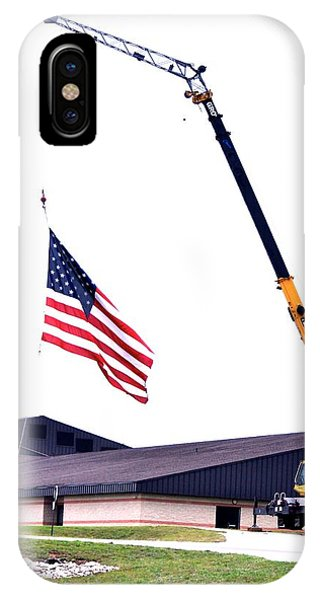 The Tribute At Half Mast Phone Case by Patricia Thebo