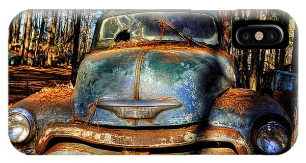The Truck In The Woods IPhone Case