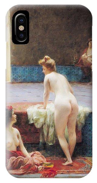 The Turkish Bath, 1896 Oil On Canvas IPhone Case