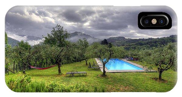 The Tuscan Villa Pool IPhone Case