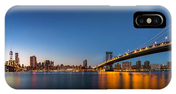 IPhone Case featuring the photograph The Two Bridges by Mihai Andritoiu