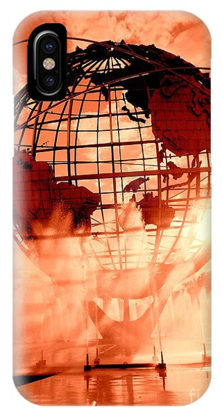 The Unisphere And Fountains IPhone Case