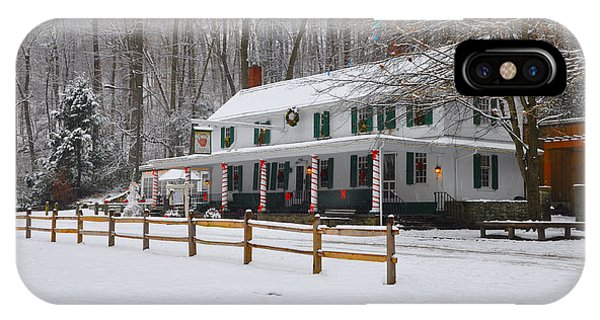 The Valley Green Inn In The Snow IPhone Case