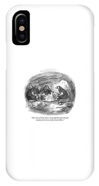 Bone iPhone Case - The Very Survival Of Our Society Depends by Frank Cotham