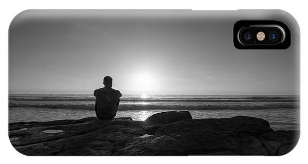 Scripps Pier iPhone Case - The View Bw by Michael Ver Sprill