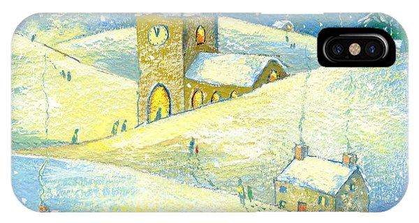 English Village iPhone Case - The Village Carol Service by David Cooke