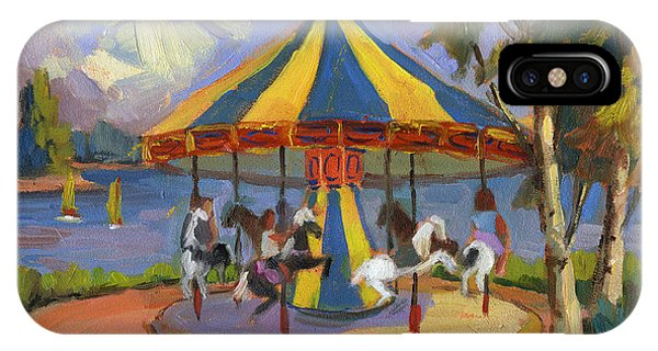 Carousel iPhone Case - The Village Carousel At Lake Arrowhead by Diane McClary