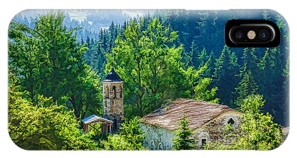 Treeline iPhone Case - The Village Church - Impressions Of Mountains And Forests by Georgia Mizuleva