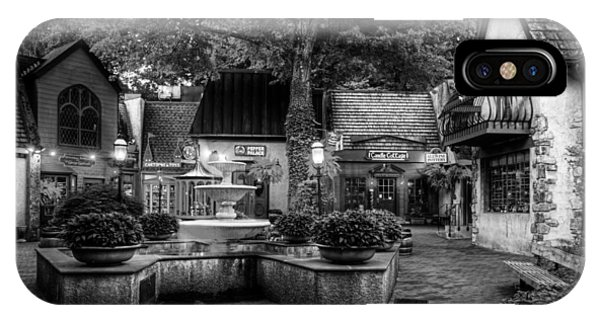 The Village Of Gatlinburg In Black And White IPhone Case