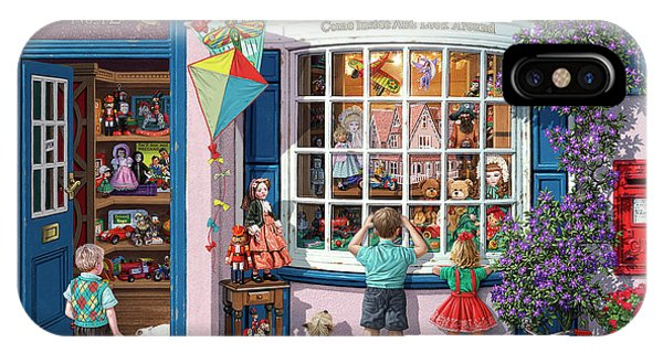 Toy Shop iPhone Case - The Village Toy Shop by Steve Read