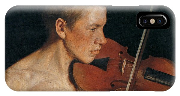 Violin iPhone X Case - The Violinist by Celestial Images