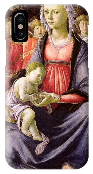 Botticelli iPhone Case - The Virgin And Child Surrounded By Five Angels by Sandro Botticelli