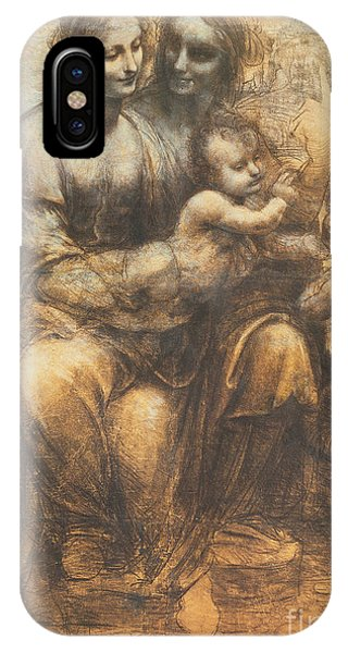 The Virgin And Child With Saint Anne And The Infant Saint John The Baptist IPhone Case