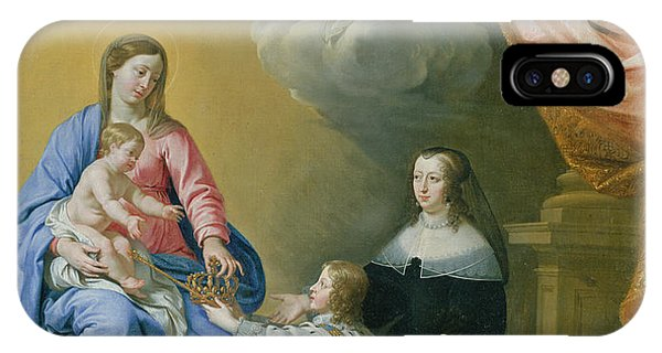 The Virgin Mary Gives The Crown And Sceptre To Louis Xiv, 1643  IPhone Case