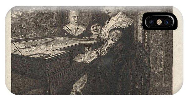 Lid iPhone Case - The Virginals Player, Willem Steelink II by Willem Steelink (ii) And Jan Miense Molenaer