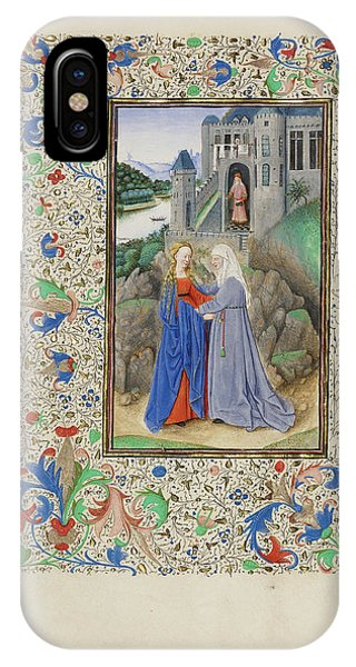 The Visitation Master Of The Llangattock Hours, Flemish Phone Case by Litz Collection