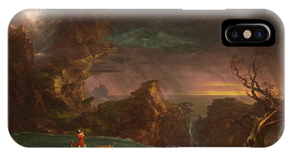Relaxation iPhone Case - The Voyage Of Life Manhood by Thomas Cole
