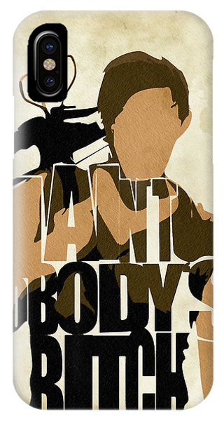 The Walking Dead Inspired Daryl Dixon Typographic Artwork IPhone Case