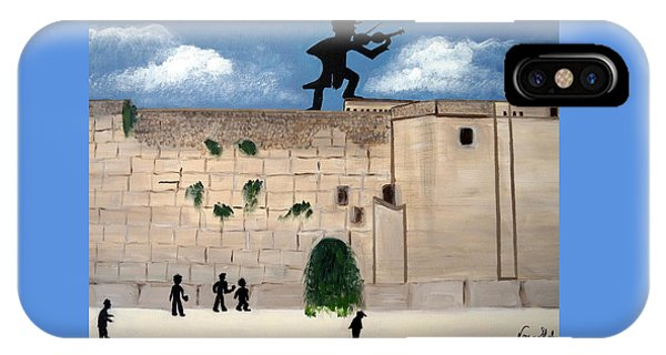 The  Western Wall And Fiddler On The Roof IPhone Case