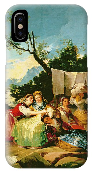 The Washerwomen, Before 1780 Oil On Canvas IPhone Case