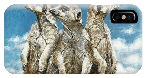 Meerkat iPhone Case - The Watchers by Dreyer Wildlife Print Collections