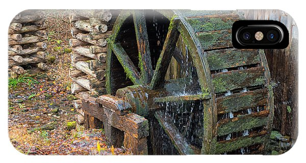 The Water Wheel At Cable Grist Mill IPhone Case