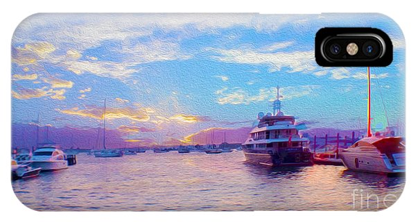 The Waters Are Calm Painting  IPhone Case