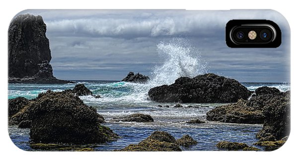 The Waves At Haystack Rock IPhone Case
