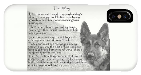 Poetry iPhone Case - The Way by Sue Long