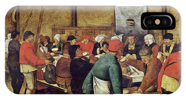 Wine Pouring iPhone Case - The Wedding Supper by Pieter the Younger Brueghel