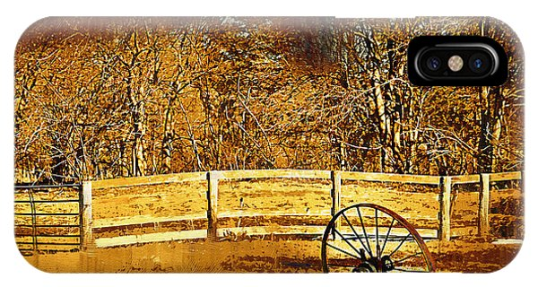 The Wheel And The Fence IPhone Case