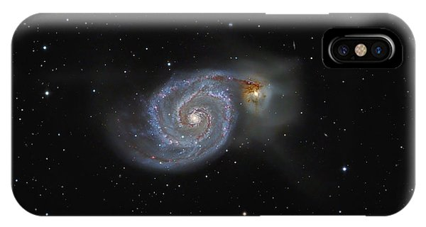 The Whirlpool Galaxy Phone Case by Brian Peterson