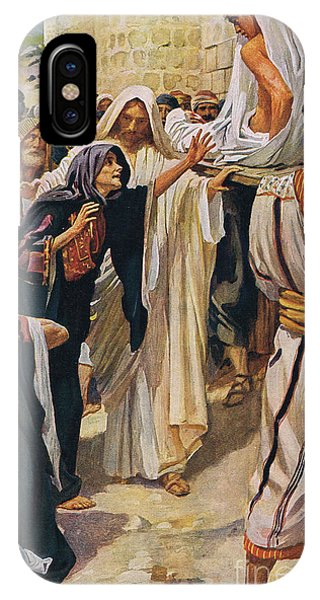 Messiah iPhone Case - The Widow Of Nain by Harold Copping
