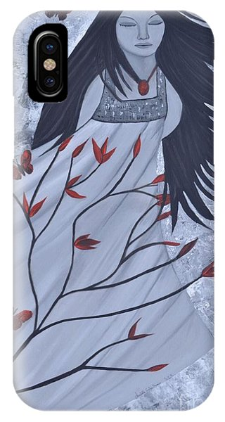 The Wind Of The Spirit Acrylic Painting By Saribelle Rodriguez IPhone Case
