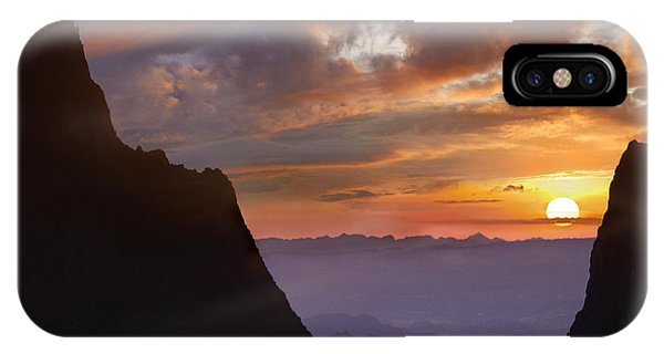 The Window At Sunset Big Bend Np Texas IPhone Case