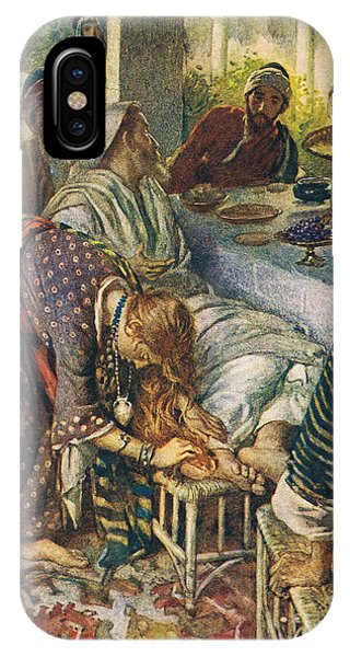 Messiah iPhone Case - The Woman With The Box Of Ointment by Harold Copping