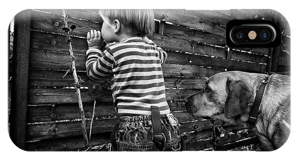 Child iPhone Case - The World From Behind The Fence by Monika Strzelecka