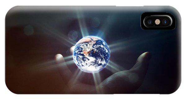 The World In The Palm Of Your Hand IPhone Case