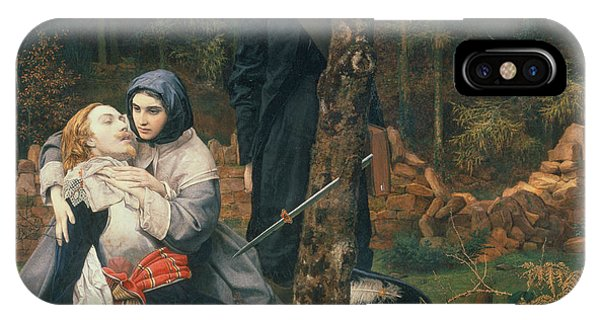 Pre-modern iPhone Case - The Wounded Cavalier, 1855 Oil On Canvas by William Shakespeare Burton