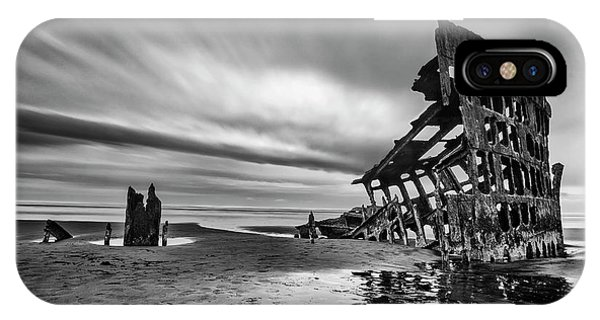 Wreck iPhone Case - The Wreck Of The Peter Iredale by Lydia Jacobs