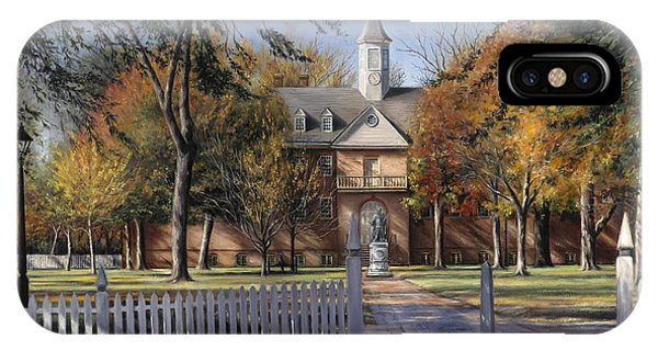 The Wren Building - College Of William And Mary IPhone Case