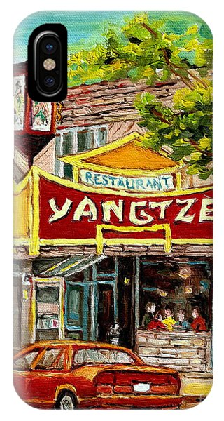 The Yangtze Restaurant On Van Horne Avenue Montreal  IPhone Case