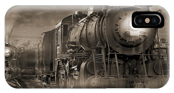 Railroad Station iPhone Case - The Yard 2 by Mike McGlothlen