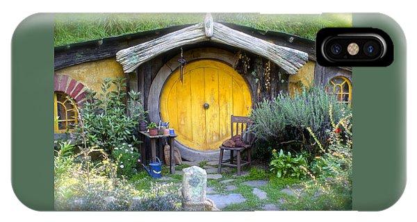 Yellow Hobbit Door IPhone Case