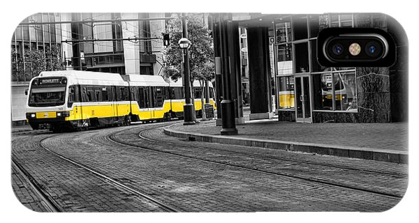 The Yellow Train Of Dallas IPhone Case