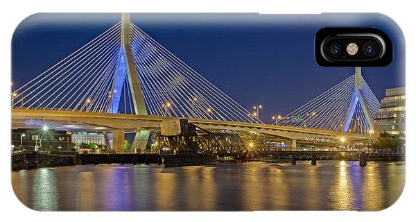 Zakim Bridge iPhone Case - The Zakim Bridge by Susan Candelario
