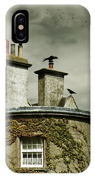 Thee Crows On Chimney's IPhone Case
